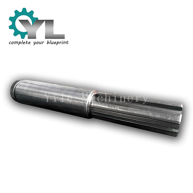 Steel Plant Rectangular Spline Threaded Bar Shaft