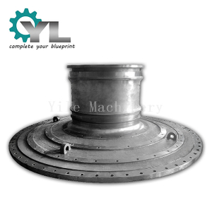 Custom Nonstandard Cement Plant Rotary Kiln Grey Iron Casting End Cover Hollow Shaft