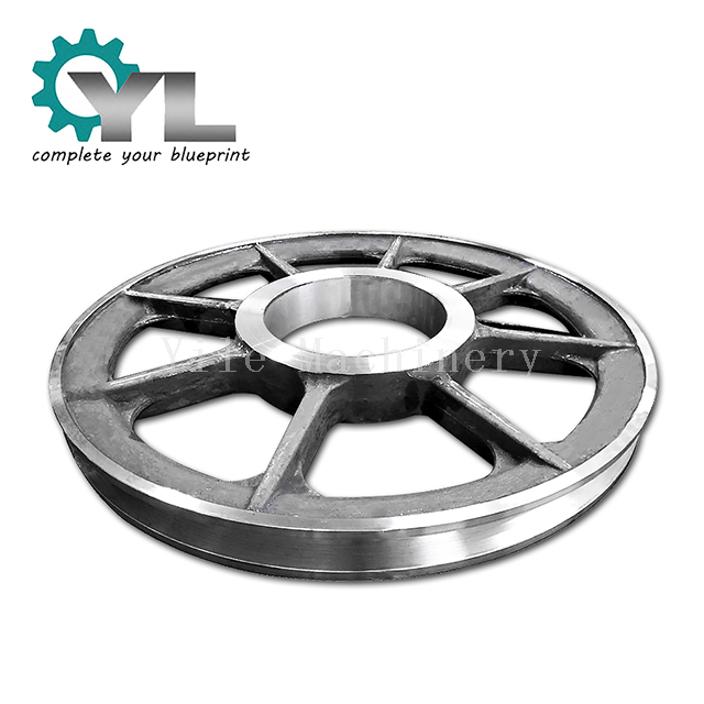 OEM Metal Belt Pulley Transmission Wheel Jaw Crusher Flywheel Casting