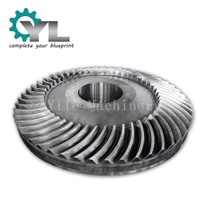 Custom Transmissiion 20CrMnTi Forging Spiral Bevel Gear Wheel Crown Spiral Gear
