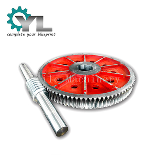 Big Cast Iron Transmission Worm Gear and Shaft