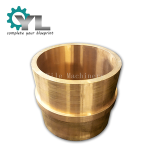 Customized Oil Groove Brass Mining Crusher Shaft Bushing Centrifuged Bronze Bushing