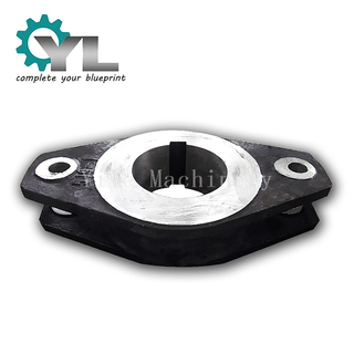 Crusher Black Cast Iron Single Metal Lifting Pulley